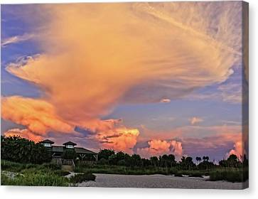 Southwest Florida Sunset Canvas Print - Florida Sunset On The Last Day Of Summer-vs2  -  Lastsumsum994 by Frank J Benz