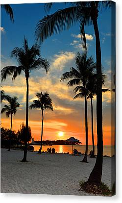 Canvas Print featuring the photograph Florida Keys Sunset by Stephen  Vecchiotti