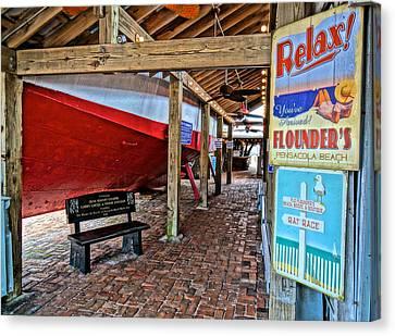 Chowder House Canvas Print - Flounders3 by Chuck Johnson