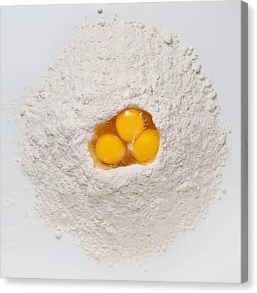 Flour And Eggs Canvas Print by Steve Gadomski
