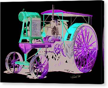 Flour City Gas Tractor Canvas Print by Ferrel Cordle
