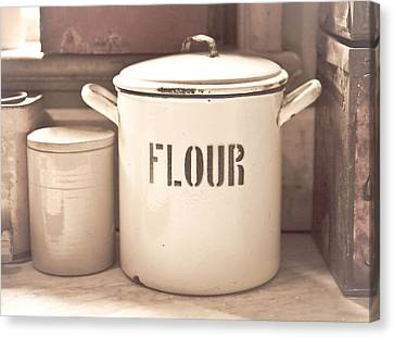 Flour Tin Canvas Print by Tom Gowanlock