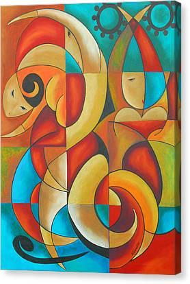 Floutine With Rhythm Canvas Print by Marta Giraldo