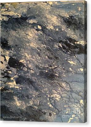 Canvas Print featuring the painting Flow by Denise Tomasura