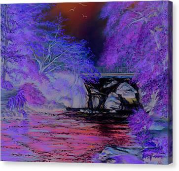 Flow Gently Canvas Print by Vanda Luddy