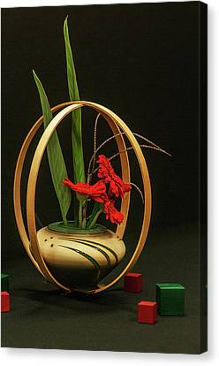 Canvas Print featuring the photograph Flow Ikebana by Carolyn Dalessandro