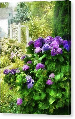 Flower - Hydrangea - Lovely Hydrangea  Canvas Print by Mike Savad
