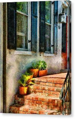 Flower - Plants - The Stoop  Canvas Print by Mike Savad
