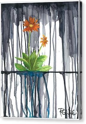 Flower #1 Canvas Print by Rebecca Childs