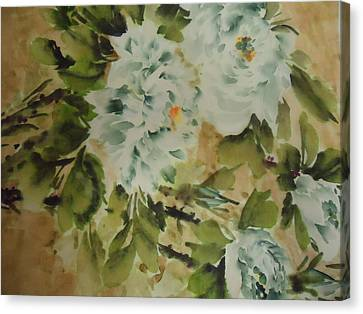 Canvas Print featuring the painting Flower -727-2 by Dongling Sun