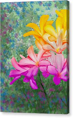 God Made Art In Flowers Canvas Print