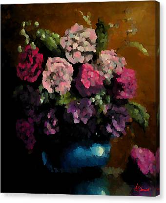 Flower Arrangement Canvas Print by Ahmed Darwish