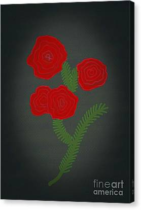 Flower Art Image Canvas Print by Rs
