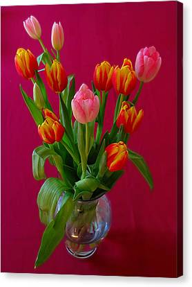 Floral Canvas Print - Flower Bouquet by Juergen Roth