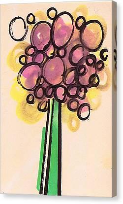 Flower Bubbles Canvas Print by Christina Fajardo
