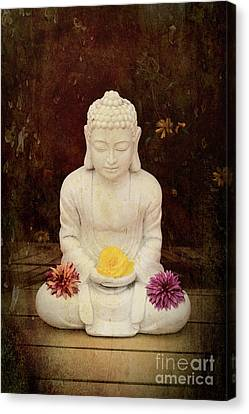 Flower Buddha Canvas Print by Tim Gainey