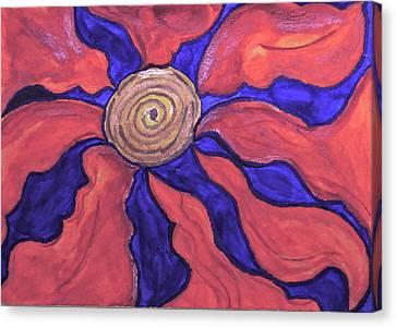Juvenile Wall Decor Canvas Print - Flower Burst #2 by Ronda Mosley