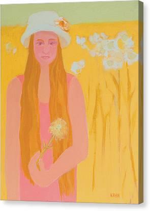 Flower Child Canvas Print by Renee Kahn