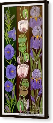 Flower Composition 5 Canvas Print by Anna Folkartanna Maciejewska-Dyba