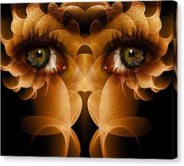 Counter-culture Canvas Print - Flower Face by Bear Welch