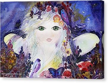 Flower Fairy Canvas Print by Nino Gabashvili