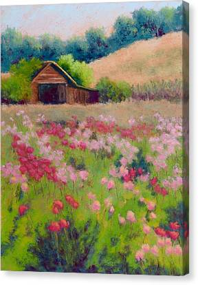 Flower Field Canvas Print by Nancy Jolley