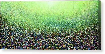 Flower Field Riot Canvas Print by Geoff Greene