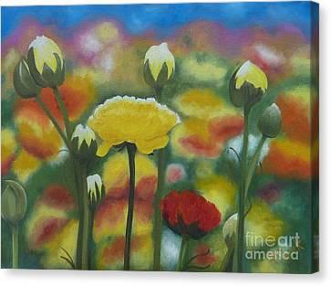 Flower Focus Canvas Print