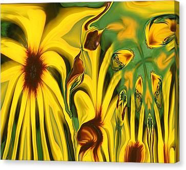 Flower Fun Canvas Print by Linda Sannuti