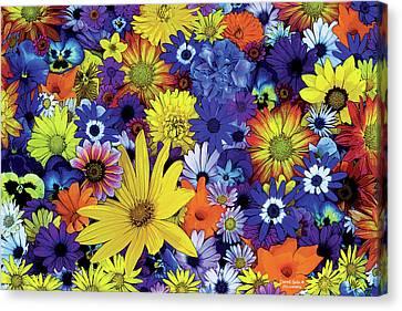 Flower Garden 1 Canvas Print by JQ Licensing