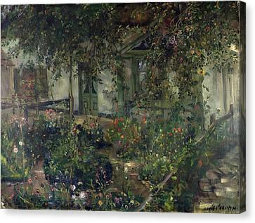 Flower Garden In Bloom Canvas Print by Franz Heinrich Louis