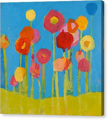 Flower Garden Canvas Print by Laurie Breen
