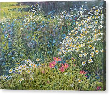Canvas Print featuring the painting Bountiful Blooms by Steve Spencer