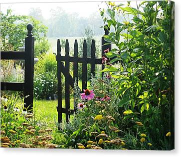 Flower Gate Canvas Print by Joyce Kimble Smith