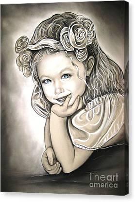 Flower Girl Canvas Print by Anastasis  Anastasi