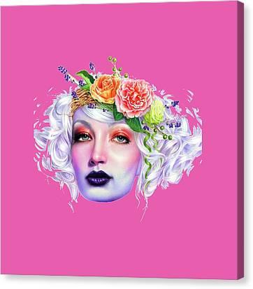 Flower Girl T-shirt Canvas Print