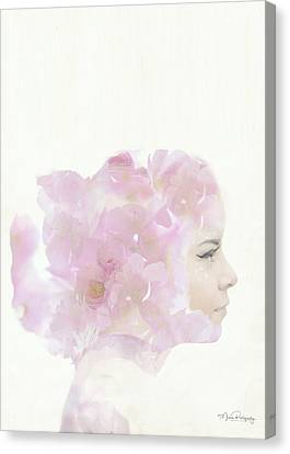 Flower Girl In Dark Pink Canvas Print