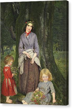 Flower Girl  Canvas Print by William Gale
