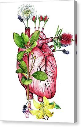 Flower Heart Canvas Print by Heidi Kriel