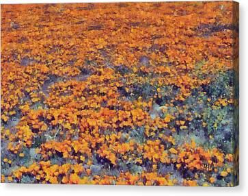 Flower Hill Canvas Print by Russ Harris