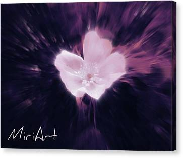 Canvas Print featuring the photograph Flower In Purple by Miriam Shaw