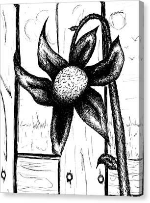 Flower Canvas Print by Jera Sky