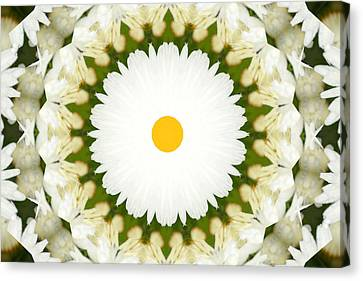 Canvas Print featuring the photograph Flower Mandala - A by Anthony Rego