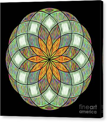 Canvas Print featuring the digital art Flower Mandala Painted By Kaye Menner by Kaye Menner