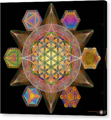 Flower Of Life Sacred Platonics Canvas Print