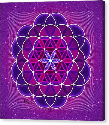 Flower Of Life Canvas Print by Soul Structures
