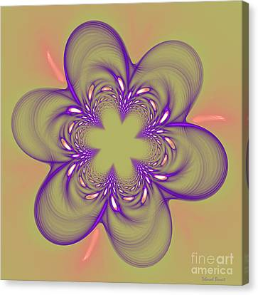 Flower Of Pink - Purple Canvas Print by Deborah Benoit