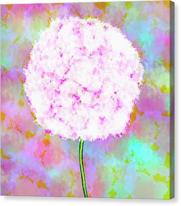 Flower On Color Canvas Print by Skip Nall