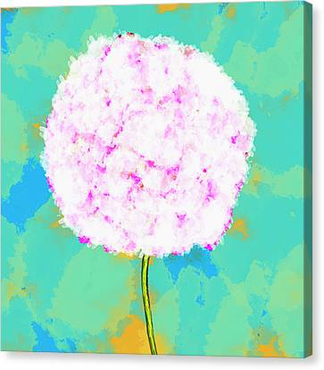 Flower On Green Canvas Print by Skip Nall