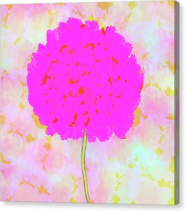 Flower On Pink Canvas Print by Skip Nall